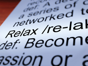Relax Definition Closeup Showing Less Stress