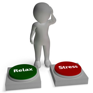 Relax Stress Buttons Shows Tension