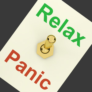 Relax Switch On Showing Relaxing And Not Worried