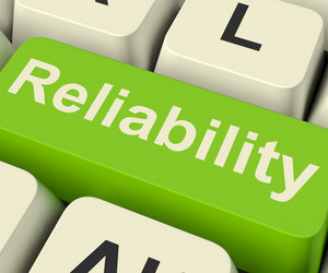 Reliability Computer Key Showing Certain Dependable Confidence