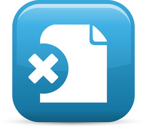Remove File Elements Glossy Icon