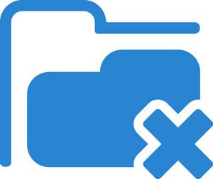 Remove Folder Simplicity Icon