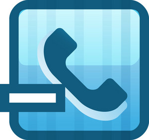 Remove Phone Number Blue Tiny App Icon