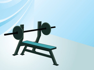 Render Of Weightlifting Bench And Weights
