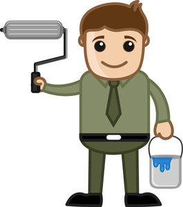 Renovation Concept - Vector Character Cartoon Illustration