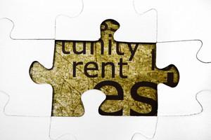 Rent Puzzle Concept