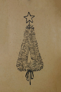 Rerto-christmas-tree-background