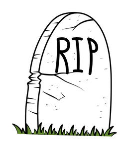 Rest In Peace - Cartoon Grave - Halloween Vector Illustration