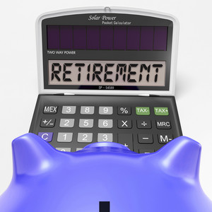Retirement On Calculator Shows Elderly Work Retired