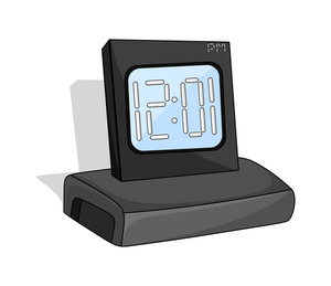 Retro Alarm Clock Design