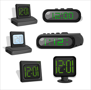 Retro Alarm Clock Set