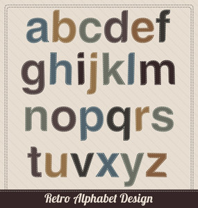 Retro Alphabet From Fabric - Uppercase