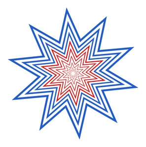Retro American Celebration Star Design