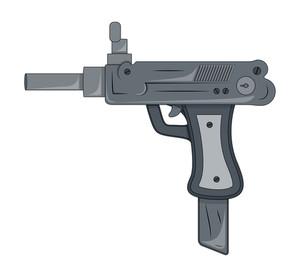 Retro Artistic Gun