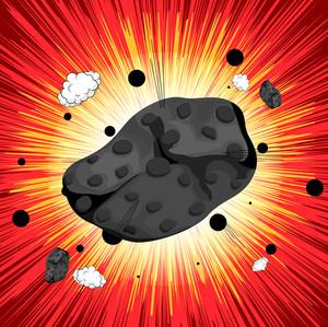 Retro Asteroid Sunburst Background