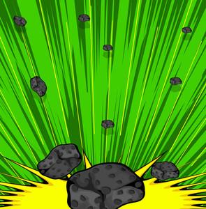 Retro Asteroids Sunburst Background