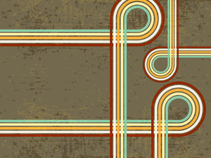 Retro Background With Curves. Vector.