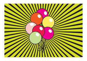 Retro Balloons Background