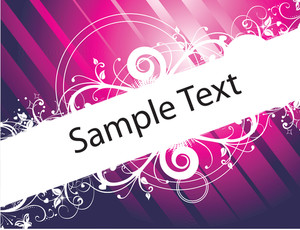 Retro Banner Vector For Sample Text In Blue Gradient