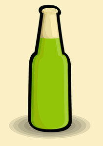 Retro Beer Bottle Shape