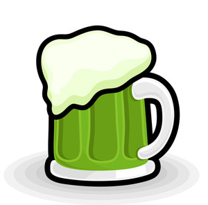 Retro Beer Mug Vector Shape