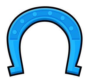 Retro Blue Horseshoe
