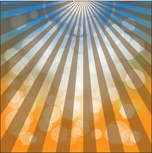Retro Bokeh Sunburst Background