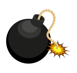 Retro Bomb Design Vector Element