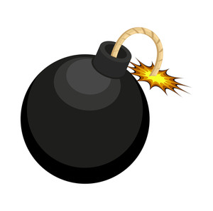 Retro Bomb Design Vector