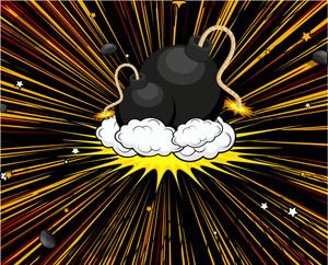 Retro Bomb Vector Elements