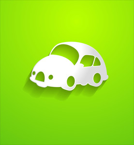 Retro Car Shape Vector