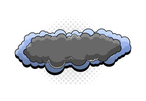 Retro Cartoon Clouds Banner