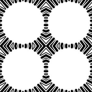 Retro Circle Frames Background