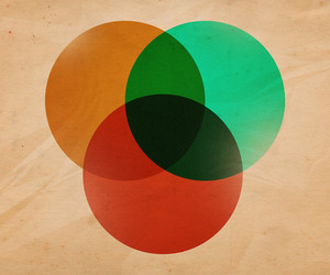 Retro Circle Illustration Background