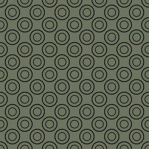 Retro Circles Abstract Pattern