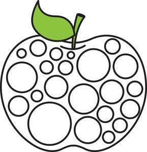 Retro Circles Apple