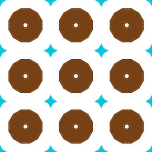 Retro Circles Pattern Bg