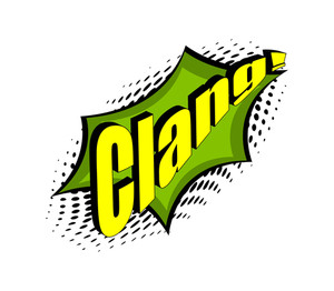 Retro Clang Text Graphic Background