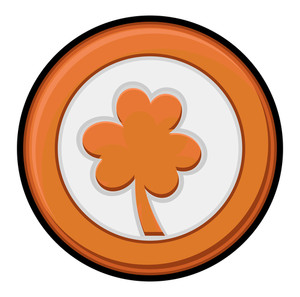 Retro Clover Leaf Coin
