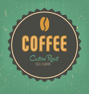 Retro Coffee Label Design