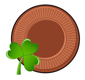 Retro Coin Clover Leaf
