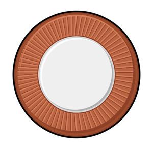 Retro Coin Vector Shape