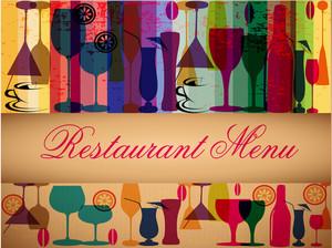 Retro Colorful Menu Card Design.