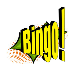 Retro Comic Bingo Text Banner