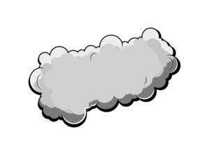 Retro Comic Cloud Vector Design