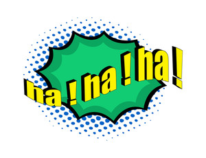Retro Comic Laughing Expression Text Banner