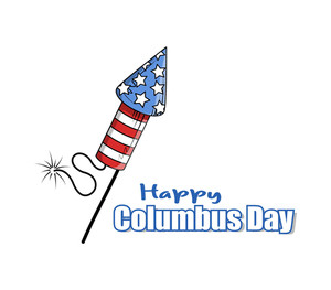 Retro Cracker Columbus Day Banner Design