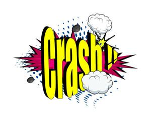 Retro Crash Text Banner Design