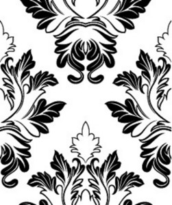Retro Damask Floral Backdrop