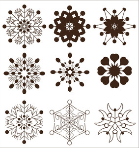 Retro Decor Snowflakes Collection